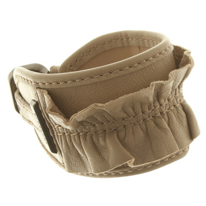 Burberry Lederarmband in Beige
