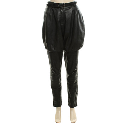 Gianni Versace Narrow leather trousers