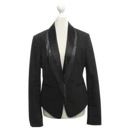 BCBG Max Azria Smoking-Jacke mit Fransenbesatz