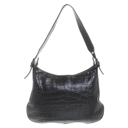 Les Copains Handbag with reptile embossing