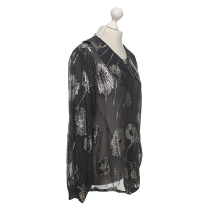 Valentino Blouse with silver pattern