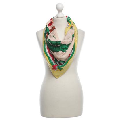 Moschino Sciarpa in seta con motivi di cuore