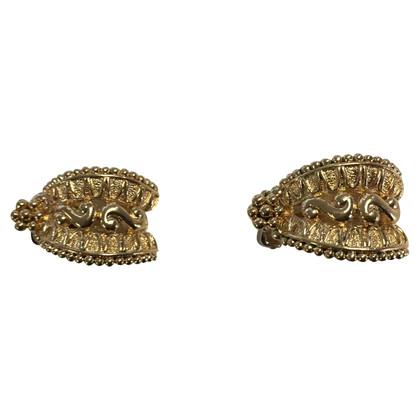 Christian Dior Gilded ear clips