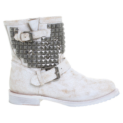 Ash Biker-ankle boots with studs