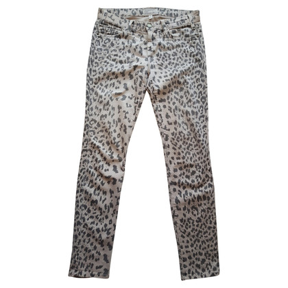 Current Elliott Skinny jeans with leopard print