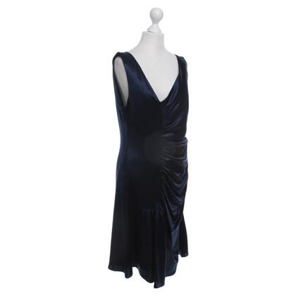 Christian Dior blauw zijden jurk