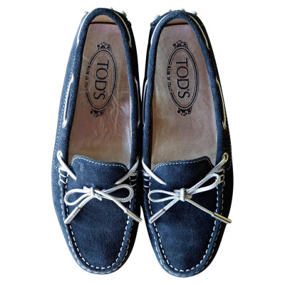 6f2743acd06 Tod s Slippers Ballerinas Suede in Blue