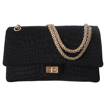 """Chanel """"2,55 heruitgave Flap Bag Medium"""" van zijde"""