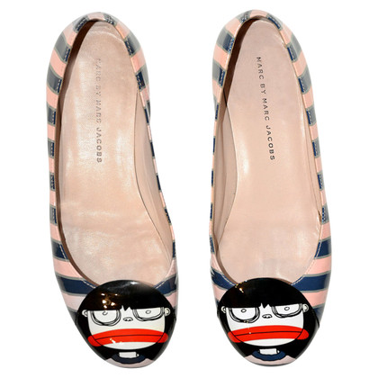 Marc Jacobs Ballerinas with stripes pattern