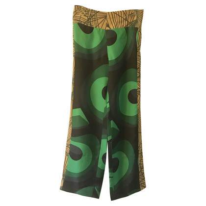 Dries van Noten Pantaloni di seta con motivo