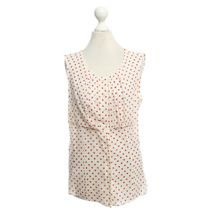 Prada top with dots pattern