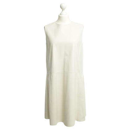 The Row Cream leather dress