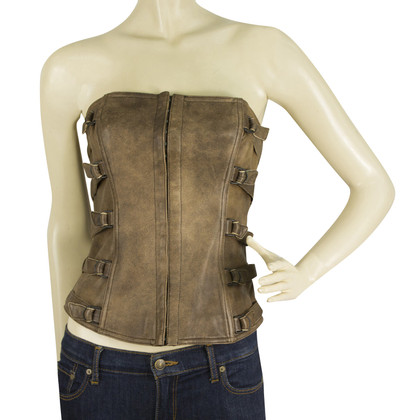 Plein Sud Leather bandeau top