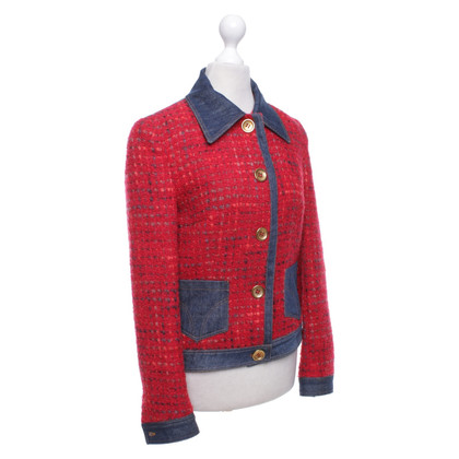 D&G Giacca Bouclé in rosso / blu