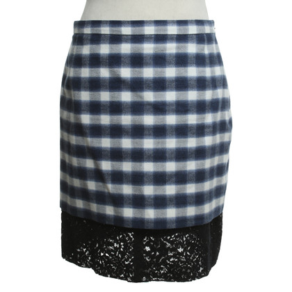 N°21 skirt with checked pattern