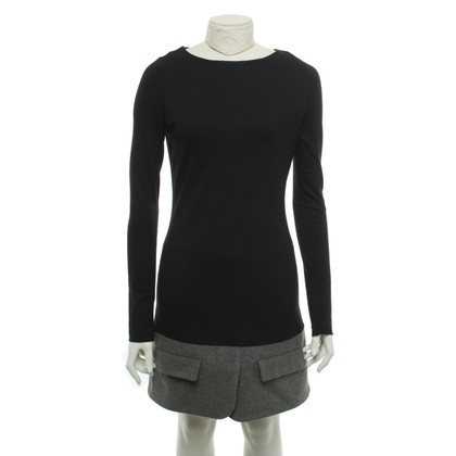 MSGM Robe en noir / gris