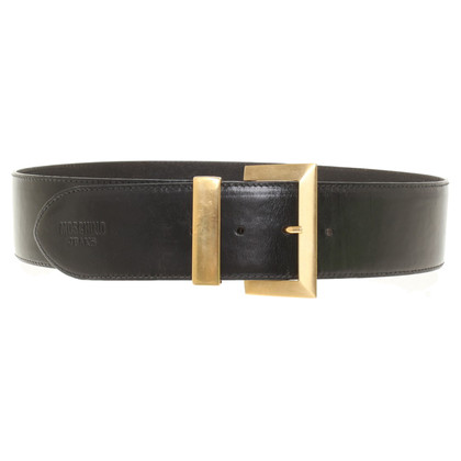 Moschino Leather Belt zwart