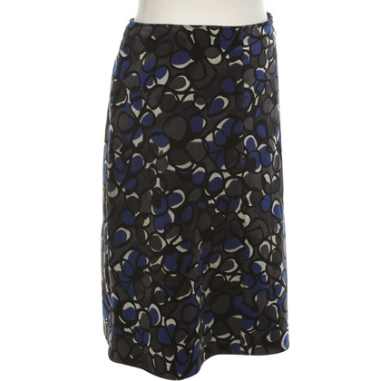 Hobbs Cord-skirt with pattern
