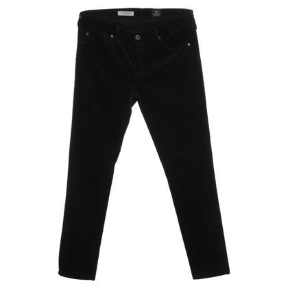 Adriano Goldschmied Fluwelen broek in zwart