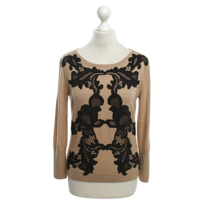 Diane von Furstenberg wool jumper in black / brown