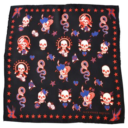 Alexander McQueen Silk scarf with pattern