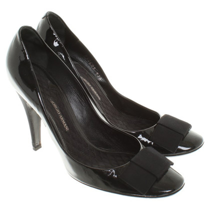 Giorgio Armani Patent leather pumps in black
