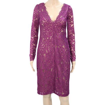 Vera Wang Kanten jurk in paars