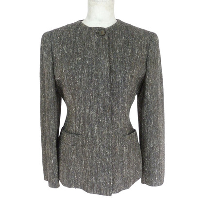 Fendi Fendi silk and wool blazer jacket