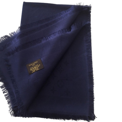 Louis Vuitton Monogram Blue Night Shawl