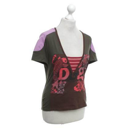D&G T-shirt met patroon