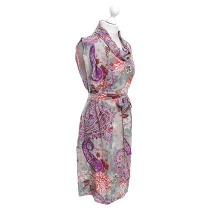 Etro bloemen zijden jurk