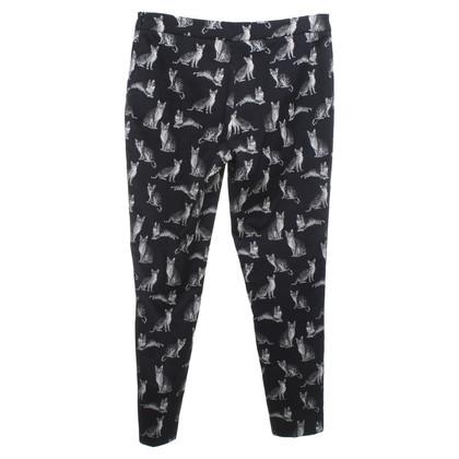 Piu & Piu Pantaloni in Nero / Crema