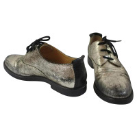 MM6 by Maison Margiela Black metalic Brogues!