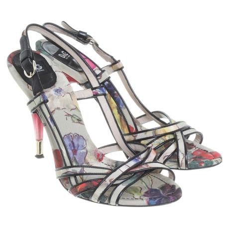 Dolce & Gabbana Sandaletten mit floralem Print Bunt / Muster