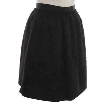 D&G Faux fur skirt in black