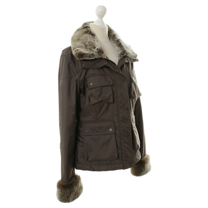 Belstaff With Web-fur trim jacket