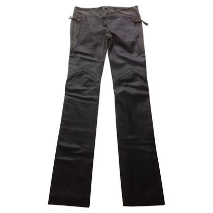 Just Cavalli pantaloni di pelle