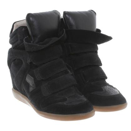 Isabel Marant Sneaker zeppe in nero
