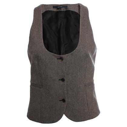 Gucci black/beige herringbone vest