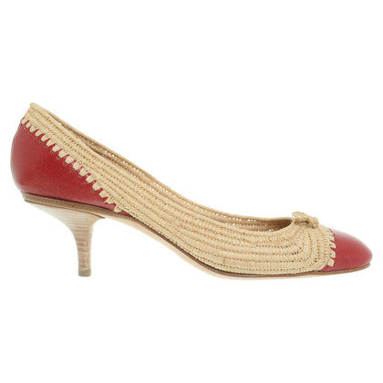 Bottega Veneta pumps raffia / pelle