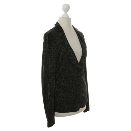 Armani Collezioni Blazer in black with glitter particles