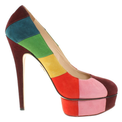 Charlotte Olympia Suede Pumps in Multicolor