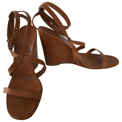 Hermès Leer Wedges