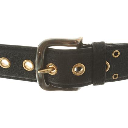 Prada Cintura con rivetti a foro