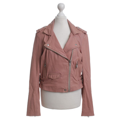 Iro Leather jacket in pink