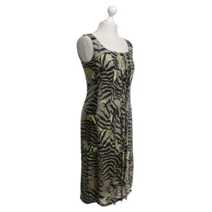 Max Mara zijden jurk met een bloemmotief