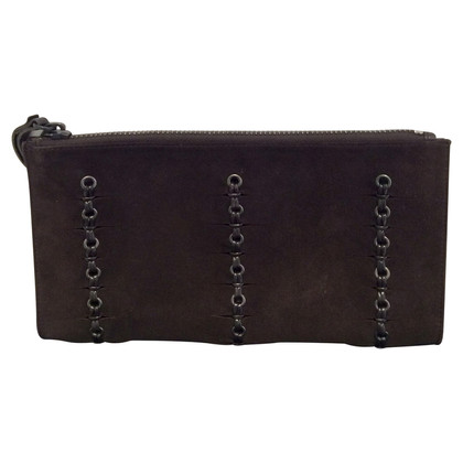 Gucci Suède lederen clutch Brown