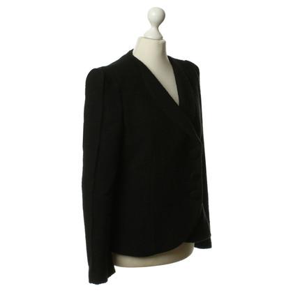 Giorgio Armani Bouclé jas in zwart