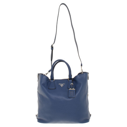 Prada Ledertasche in Blau