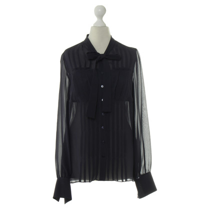 L.K. Bennett Zijden blouse in Midnight Blue